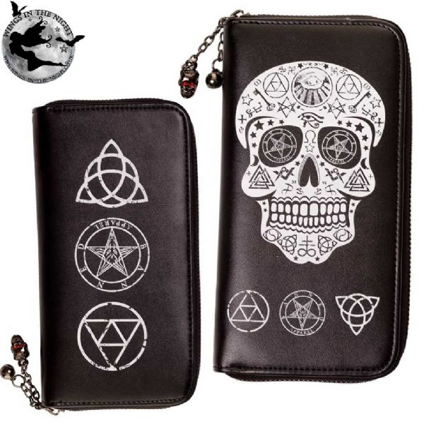 BANNED Ladies Gothic Skull Pentagram Purse
